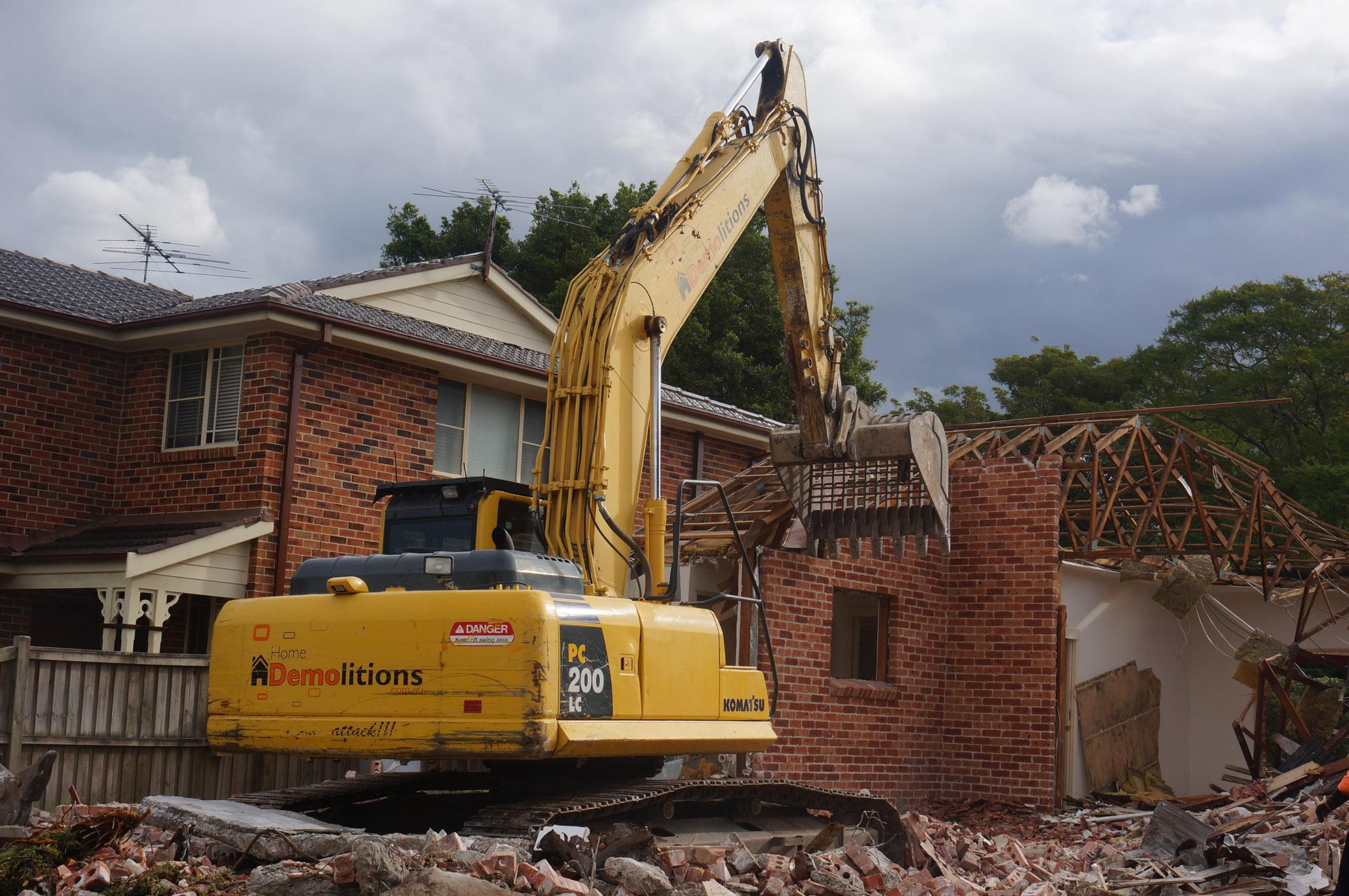 Brick House being demolished in West Ryde.jpg