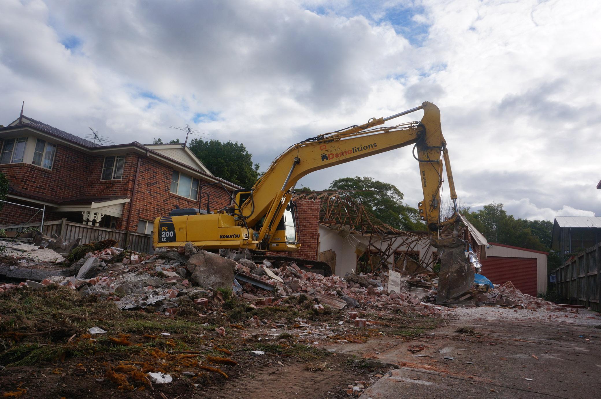 Demolition site half-way done in West Ryde.jpg
