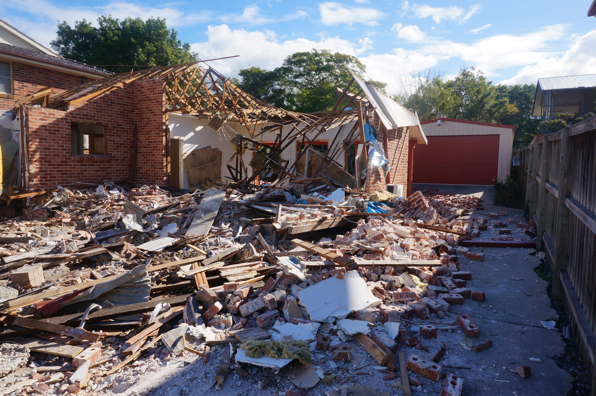 Partially demolished house in West Ryde.jpg