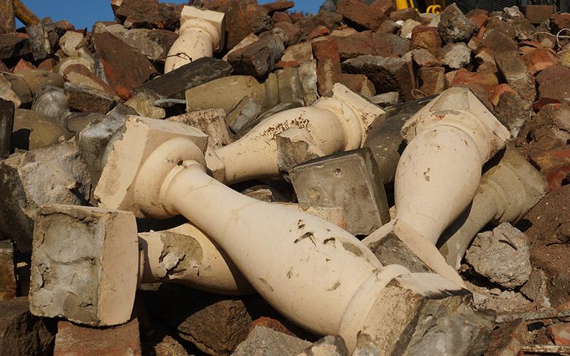 Salvaged bricks in Sydney