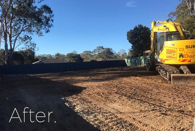 Leumeah after demolition, NSW, 2560