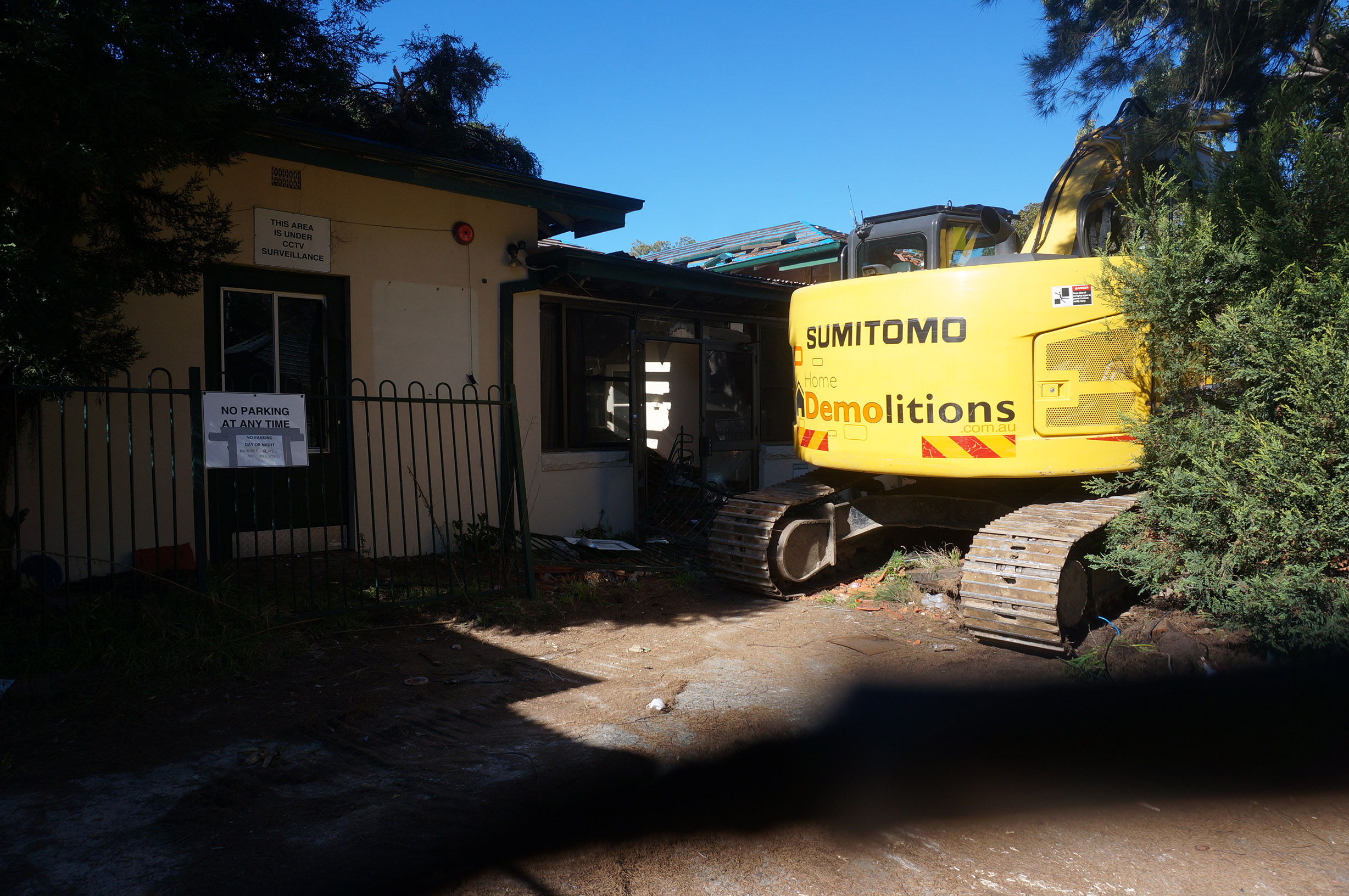 Machine on site to begin project at former Altona Nursing Home