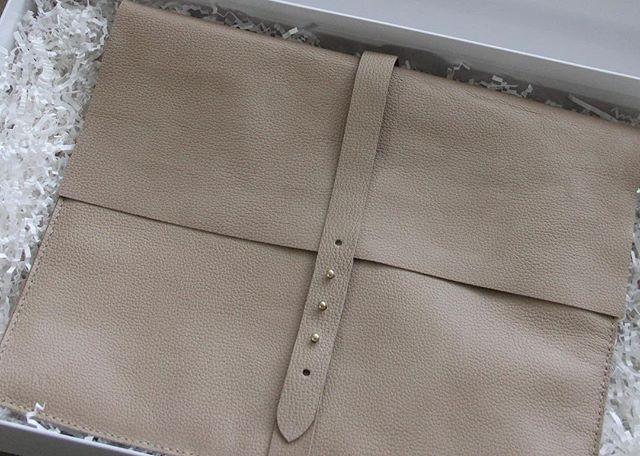 Off to make some laptop cozy. #customorder #embossed #pebbledleather #brandhyzeandco