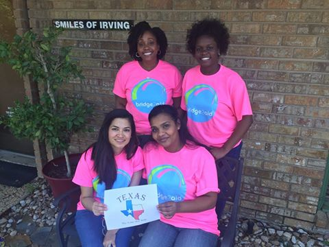 The Dr. Kimberly Harper, DDS team supporting bridge2aid