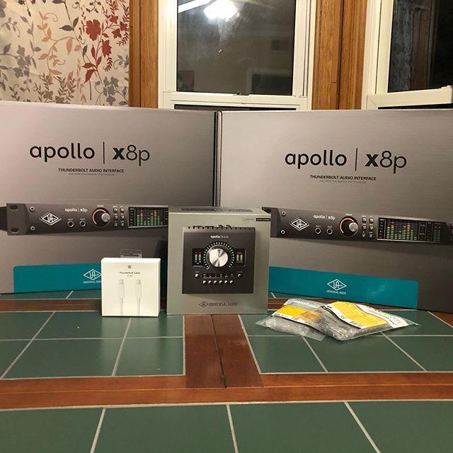 Just some new audio gear. #uadplugins #universalaudioapollo #recordingstudio #musician