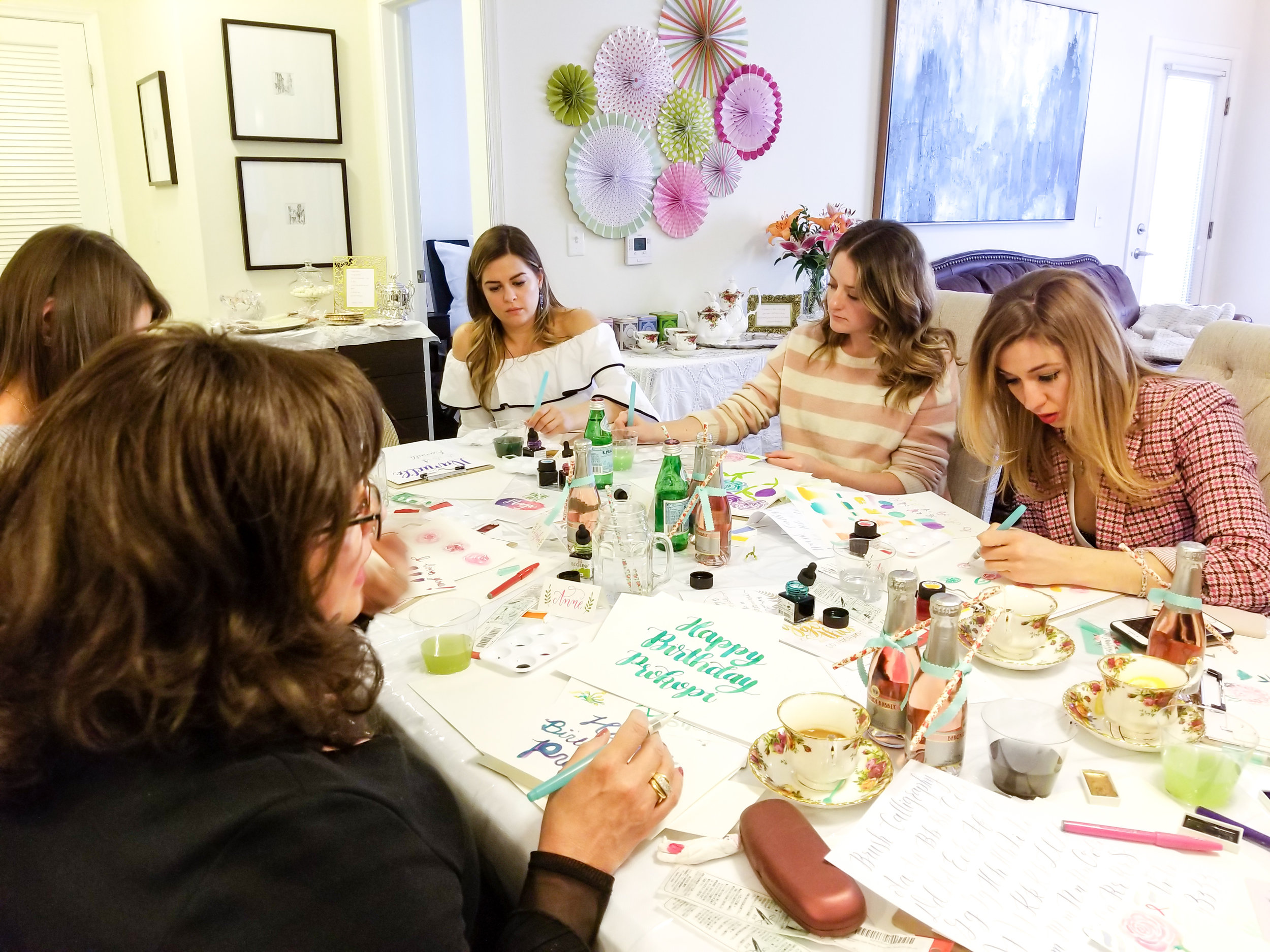Private Workshop - Invite me to your next party! Private workshops are a great way to learn something new with your friends and family. I can create custom workshop experiences for both adults and kids ages 8 and up. I would be happy to work together to choose a mix of calligraphy and watercolor activities to delight your guests!