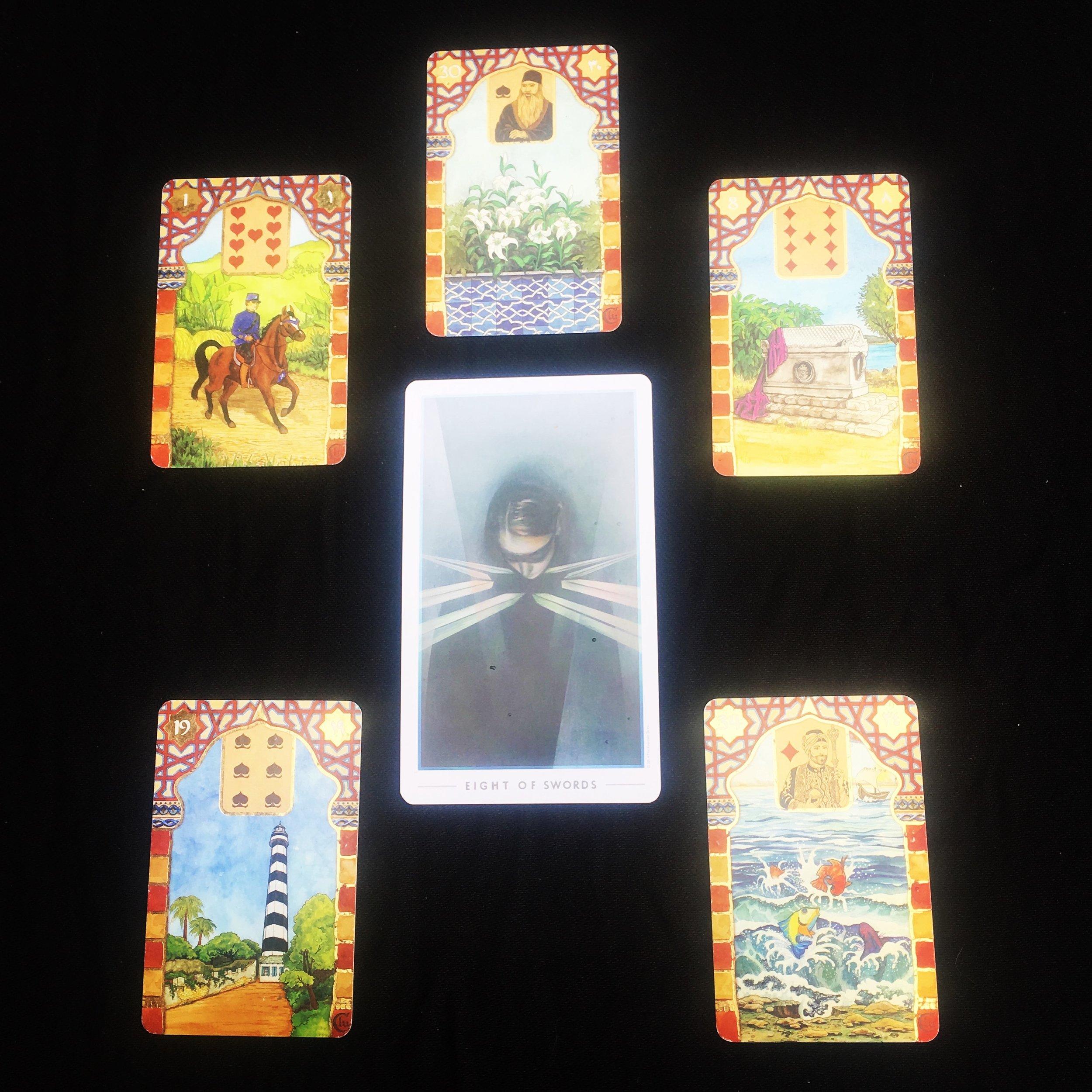 Decks: Rana George Lenormand and the Fountain Tarot