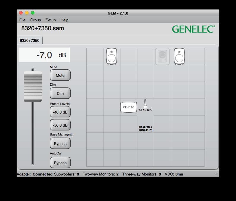 Här i GLM-systemet styrs 8320-monitorerna och 7350-subben, men systemet kan hantera totalt 30 högtalare.