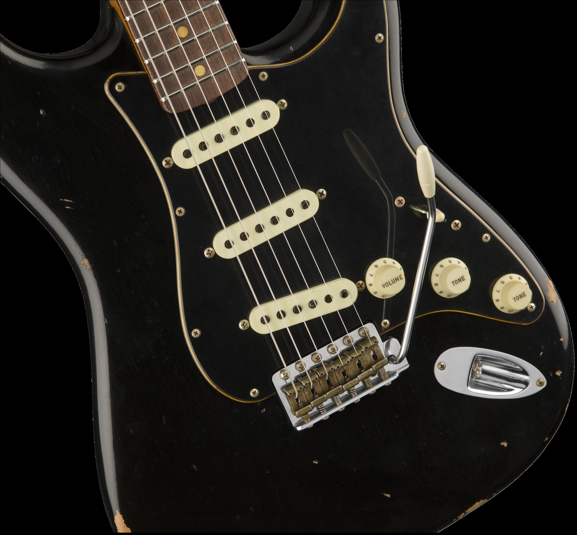 Fender Custom Shop 2017 Ltd Black Roasted Dual-Mag Strat – Relic