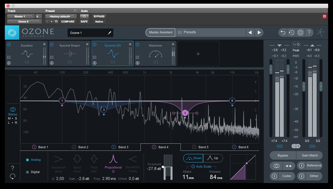Dynamisk EQ kan vara fantastiskt för att lyfta ljud som behöver lyftas, utan att lyfta samma frekvenser när en annan ljudkälla gör för starkt ifrån sig.