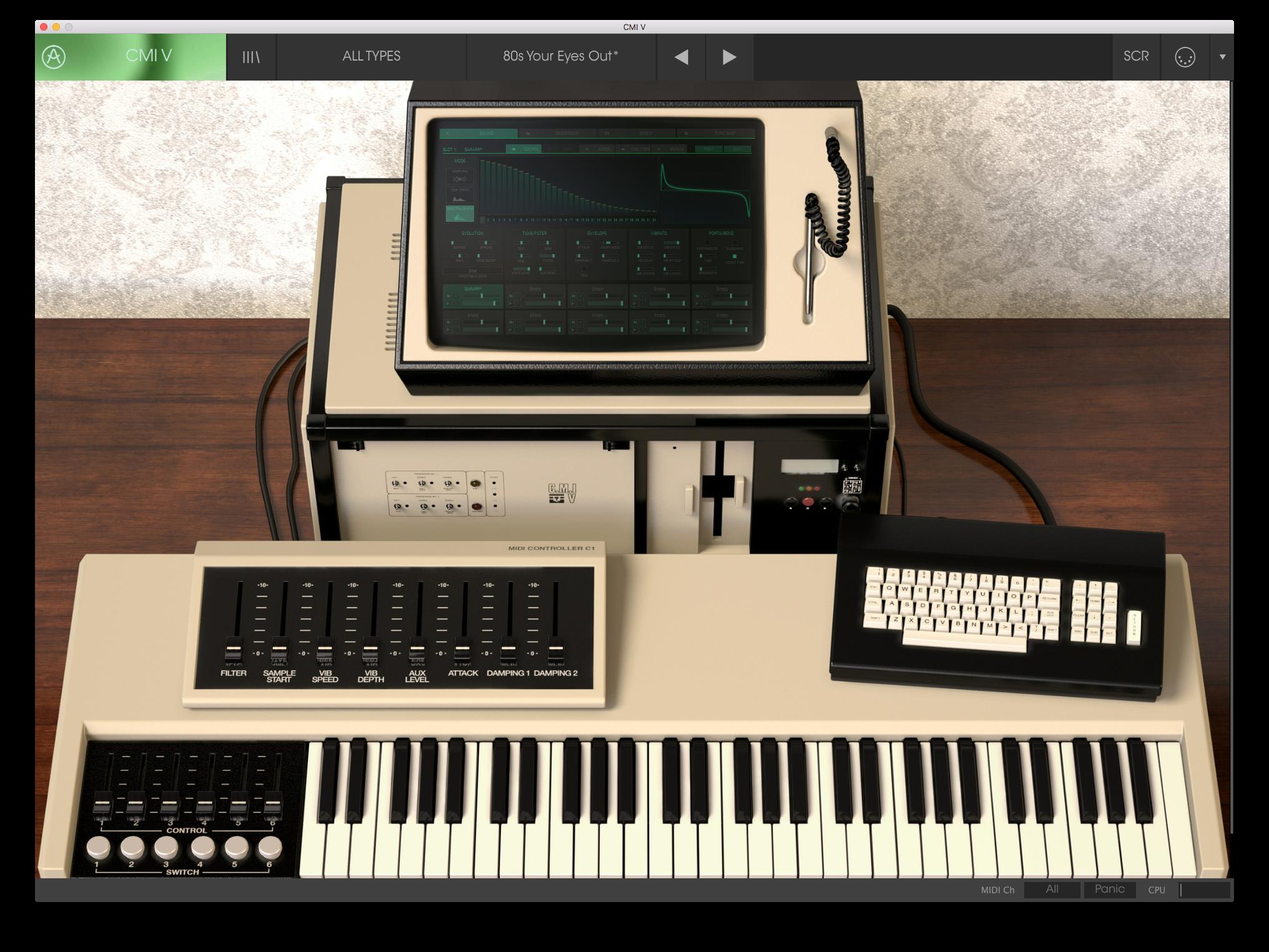 CMI V är en logisk tillökning efter att Synclavier V gjorde intåg till version 5 av V Collection.