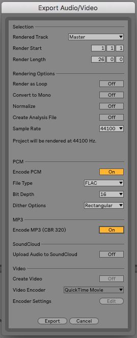 Äntligen kan vi exportera både Flac och mp3 direkt inifrån programmet.