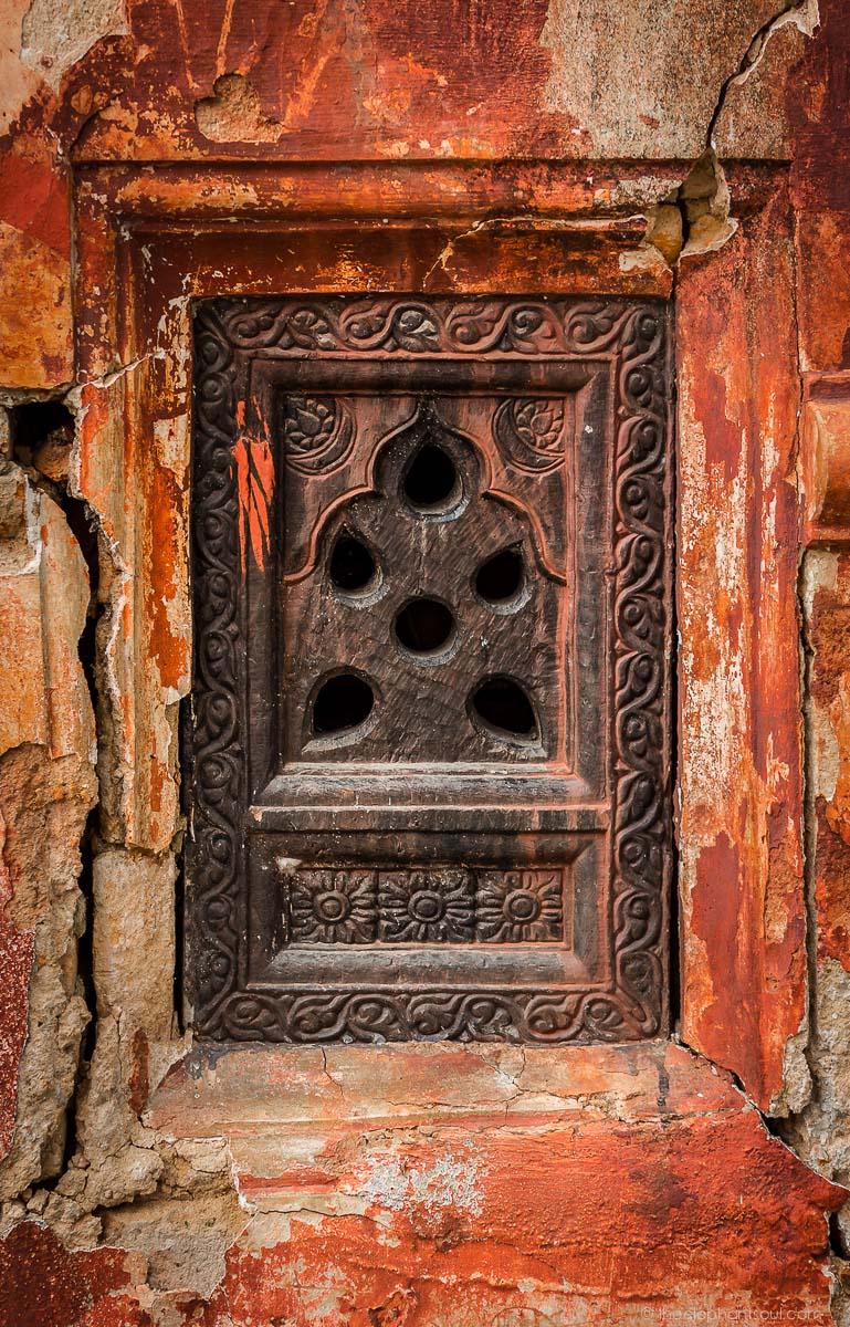 Old Window from Shiva Temple - Kathmandu, Nepal