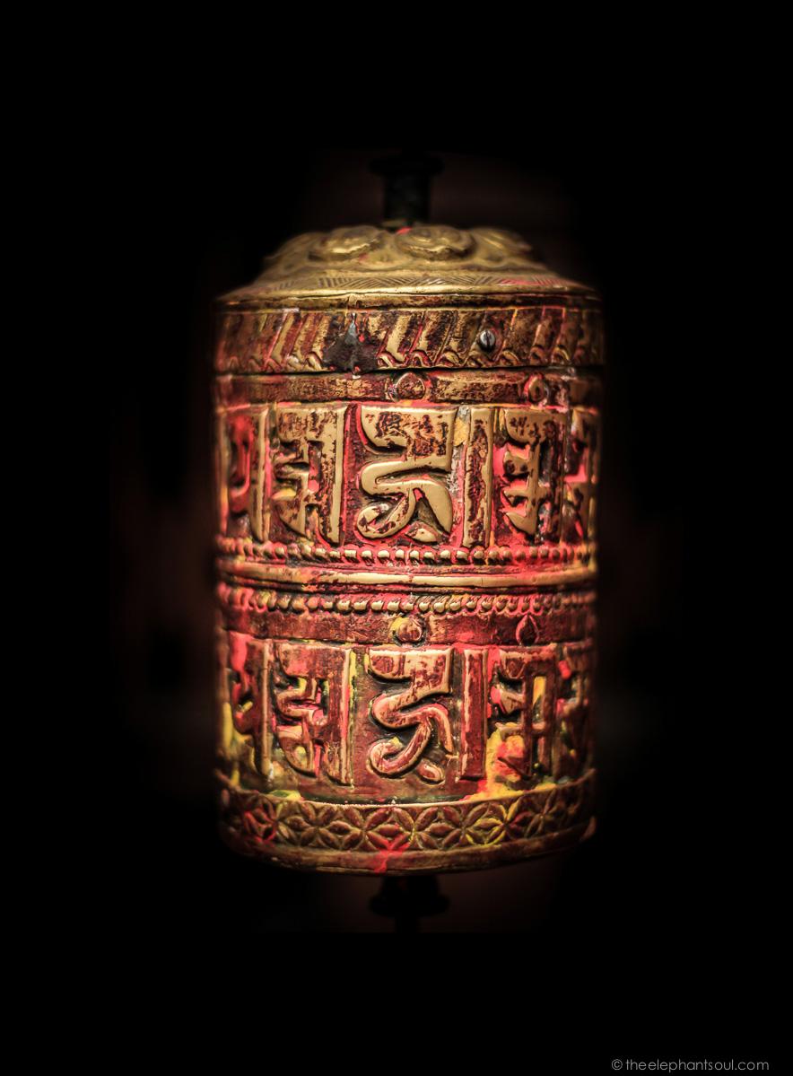 Tibetan Prayer Wheel - Kathmandu, Nepal