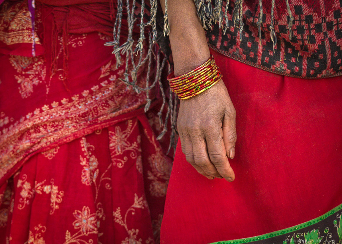 This photo of Newari women was taken during the second year I attended the Madav Narayan festival in Bhaktapur, Nepal.
