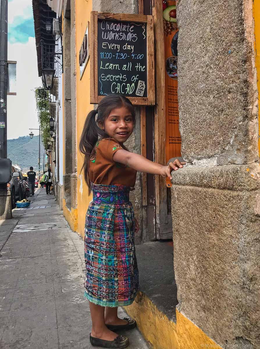 Photo of indigenous girl from Antigua, Guatemala. © Diana, The Elephant Soul