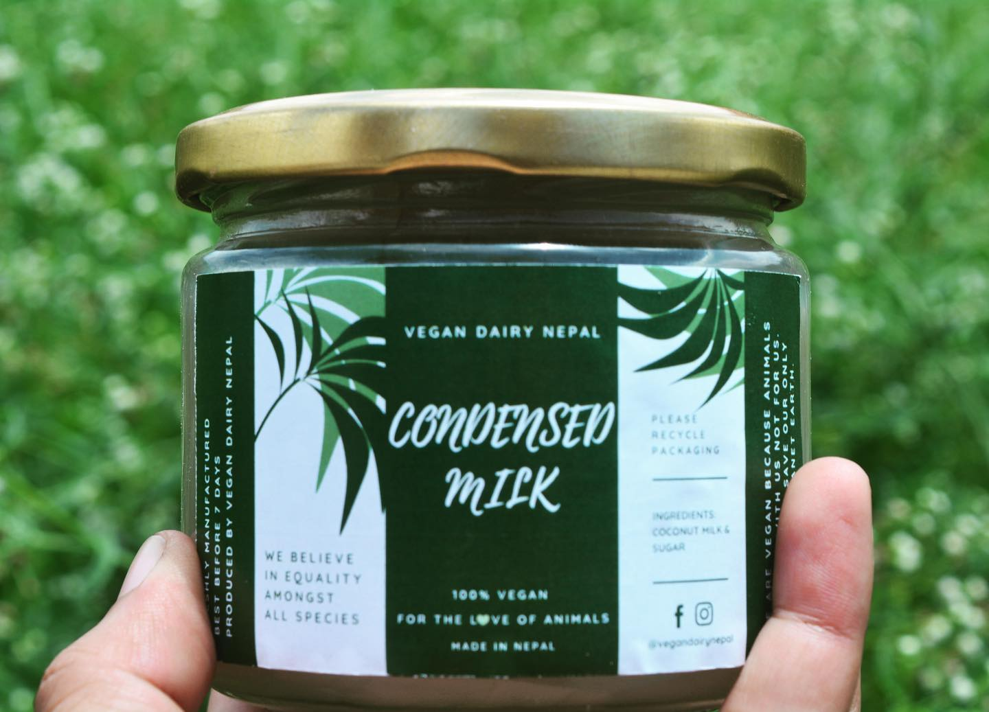 Vegan condensed milk from Vegan Dairy Nepal. Image © Vegan Dairy Nepal