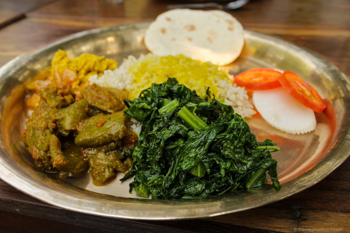 Delicious vegan thakali set. Did you know? Nepal has traditional vegan dishes galore! Image © Diana, The Elephant Soul