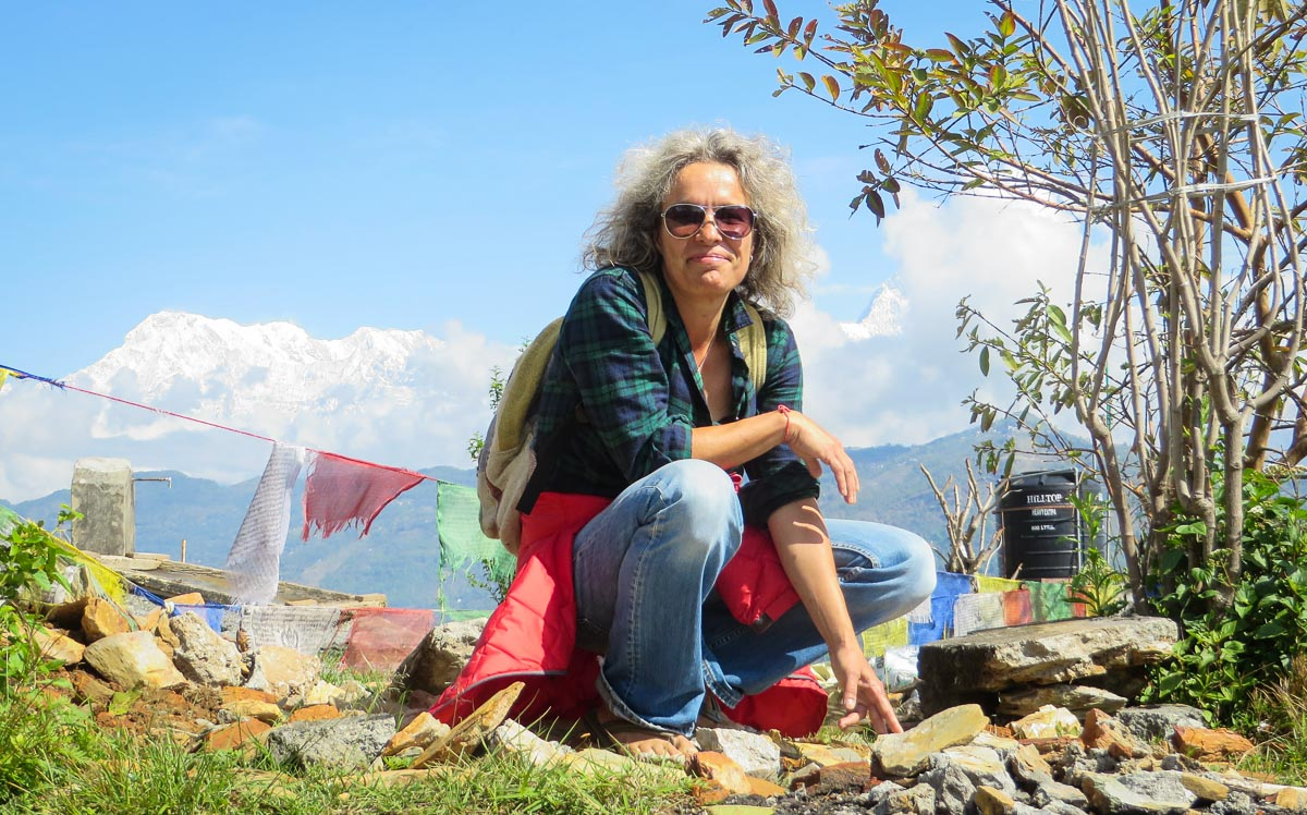 Lena Quénard, founder of  Association Moey  in Nepal. © Image: Lena Quénard