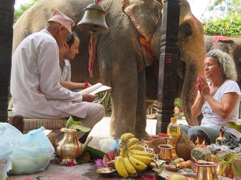 This  puja  or spiritual ritual was carried out to bless and celebrate her new life in freedom. © Image: Lena Quénard