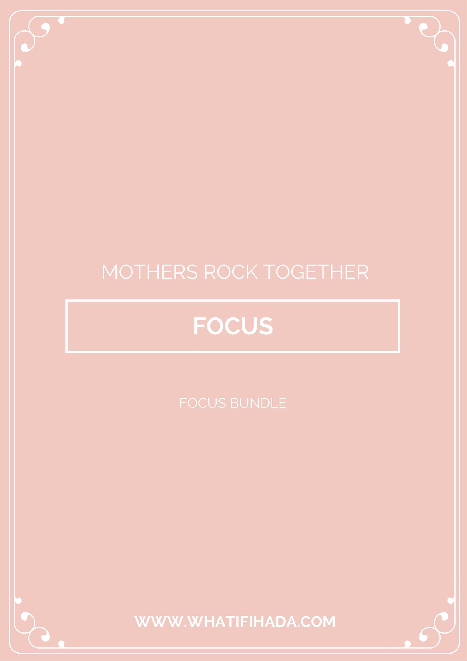 Focus Printable