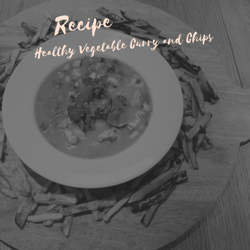 Recipe Healthy Vegetable Curry and Chips