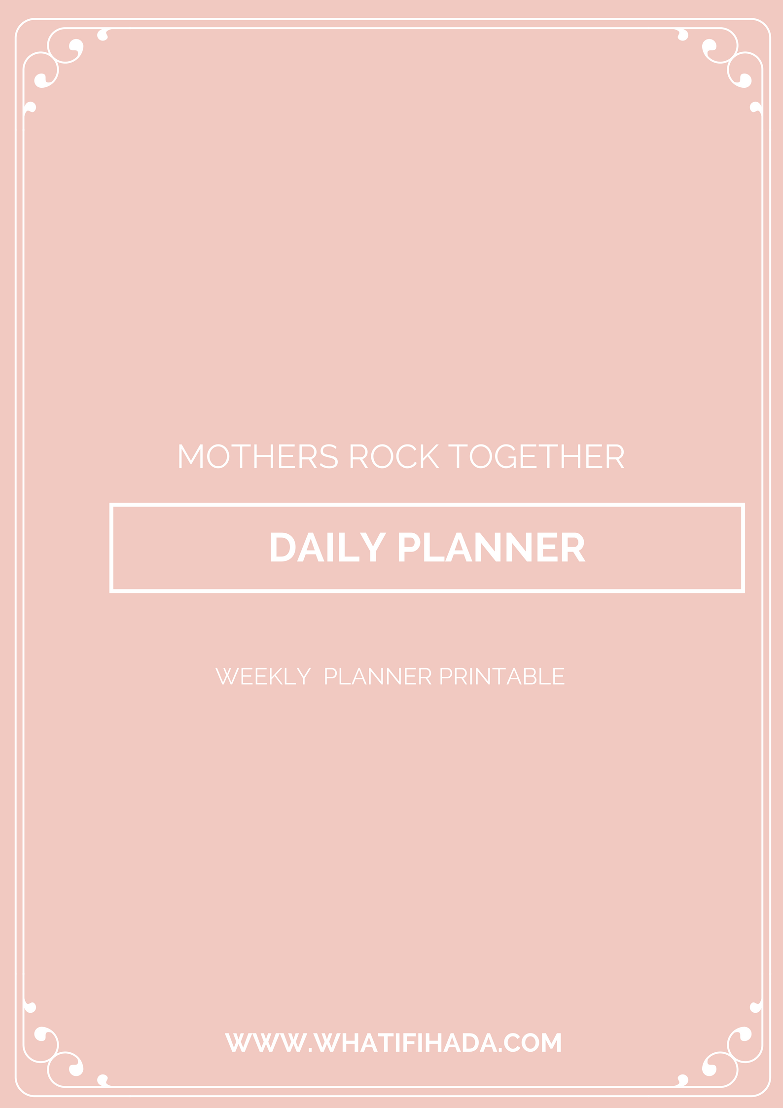 A Daily Planner Printable to prioritise and inspire.   Free to download in printables.