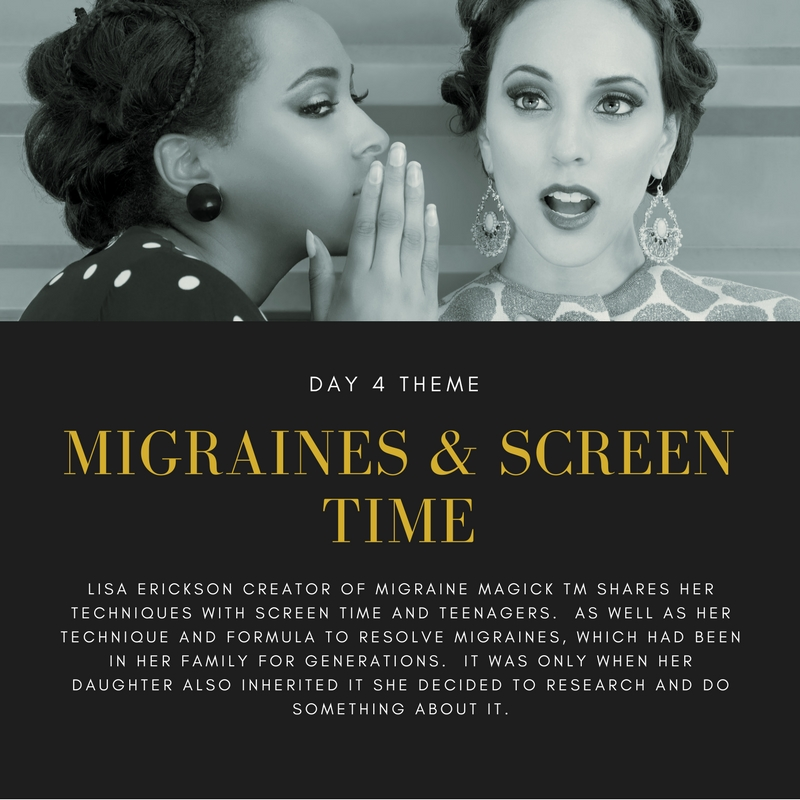 You'll like this interview if you have ever suffered with migraines, conditions that impact your family or have to manage screen time in the teenage years in an increasingly more social and online generation.