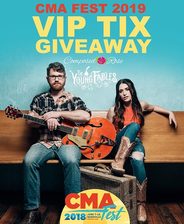 ✨ GIVEAWAY ALERT ✨ We've teamed up with our friends, @composedrose to give one lucky winner an amazing CMA FEST VIP EXPERIENCE! Once we reach 12K then we'll do this thing so help us get there 👏🏻 HERE'S WHAT YOU'LL WIN: 2 CMA Fest Tickets For Thursday Night June 6th Stadium Event Nissan Stadium Box Seat With Composed Rose & The Young Fables, TYF Autographed Vinyl $50 Gift Card For Composed Rose and Personal Style Fitting For The Event 💜  HOW TO ENTER:  1. Follow @theyoungfablesofficial and @composedrose  2. Like This Post 3. Tag a friend in the comments (1 tag = 1 entry, unlimited entries)  BONUS ENTRIES: Repost This Giveaway On Your Stories And Tag Both Of Us And Receive 5 Entries.  GIVEAWAY ENTRIES ACCEPTED UNTIL 6/1 @ Midnight CST  This promotion is in no way sponsored, endorsed or administered by, or associated with, Instagram and as such, each participant or entrant releases Instagram of any liability.