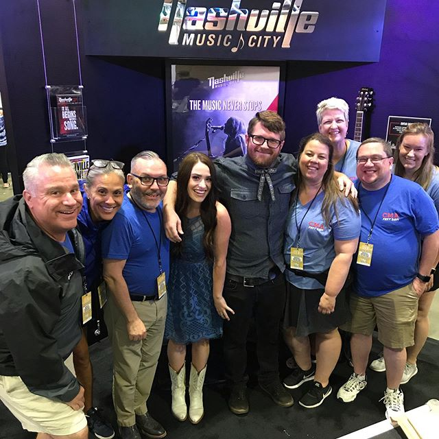 We had such a great time meeting everyone @visitmusiccity booth inside Fan Fair X @cma #CMAfest Check us out at 4 @wildhorsesaloon #nashville #cma