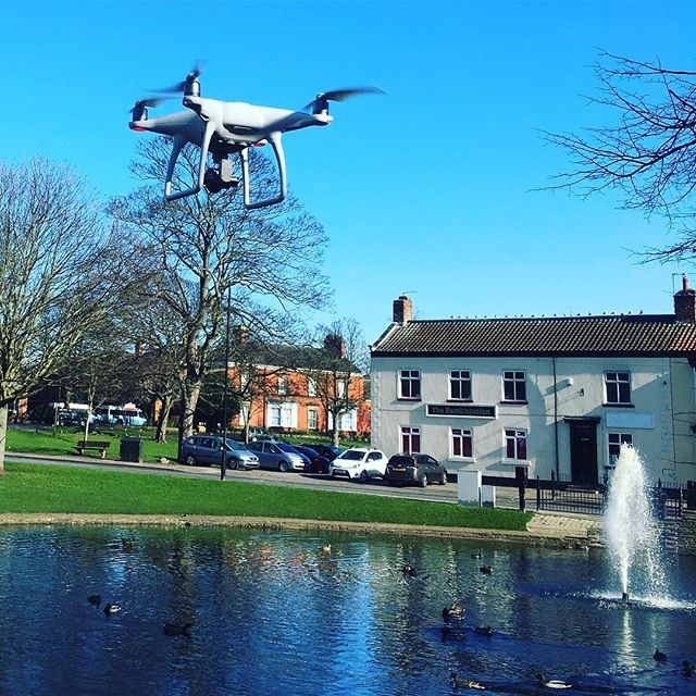 UFO spotted over #nortonduckpond #marmadukeplace making a video of our beautiful village