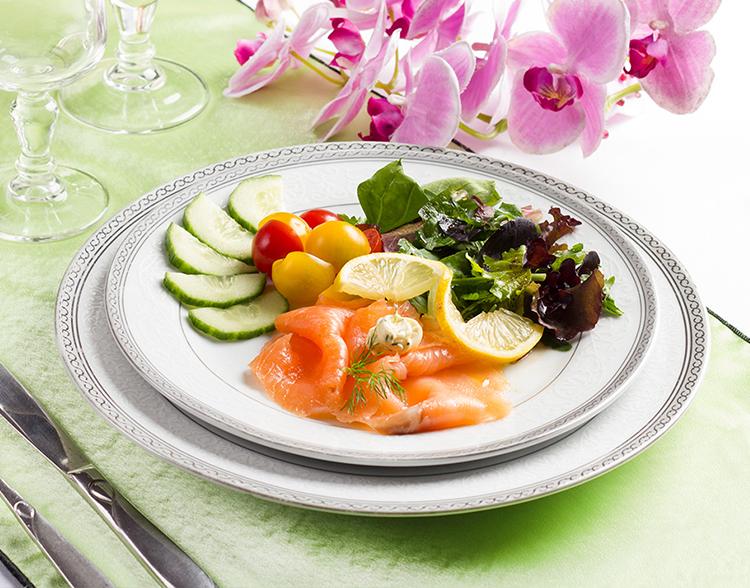 chiffonnade de saumon -