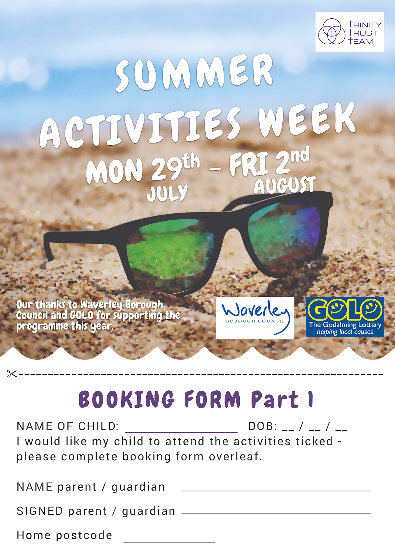 Trinity Trust Team Summer Activities Week 2019