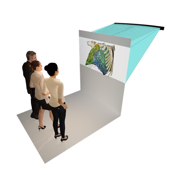 Rear-projection holographic Light-Field Display