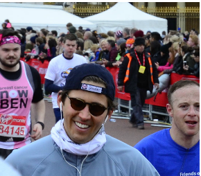Ben Bourne ran the 2016 London Marathon and raised funds for safehands -
