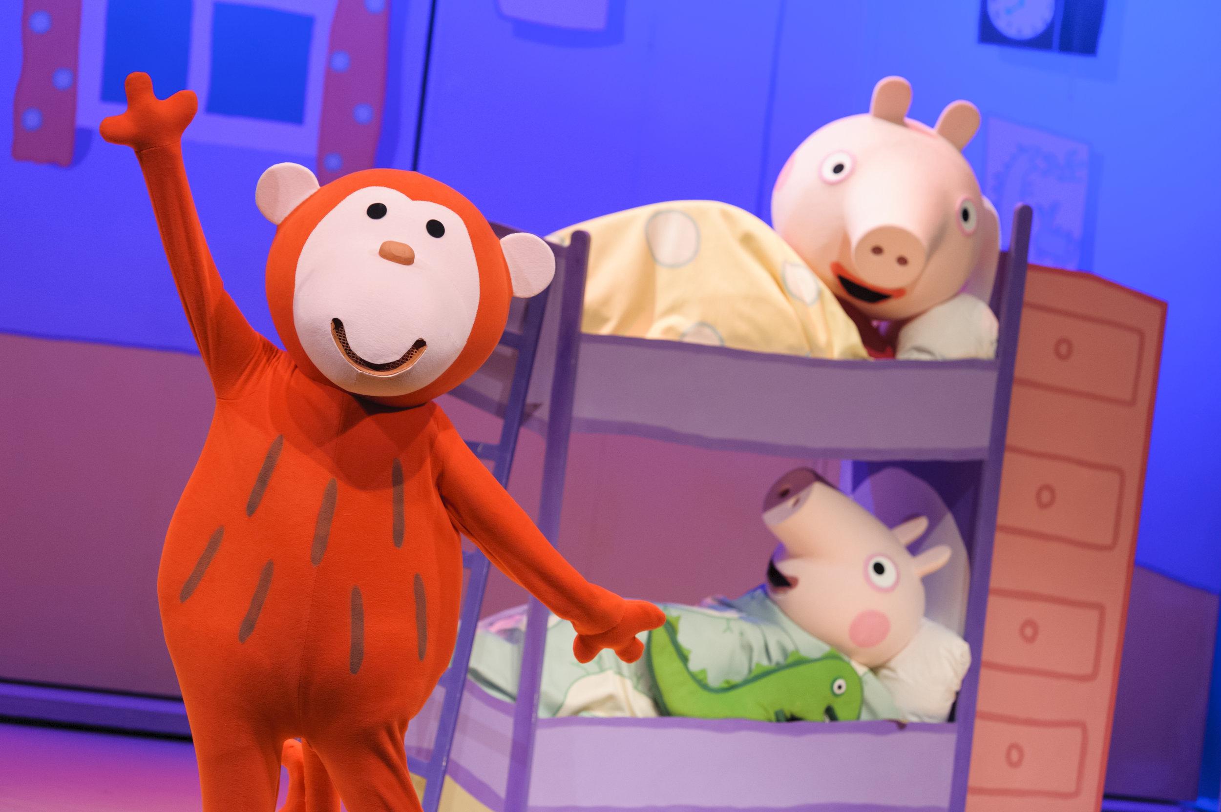 Red Monkey, Peppa Pig and George