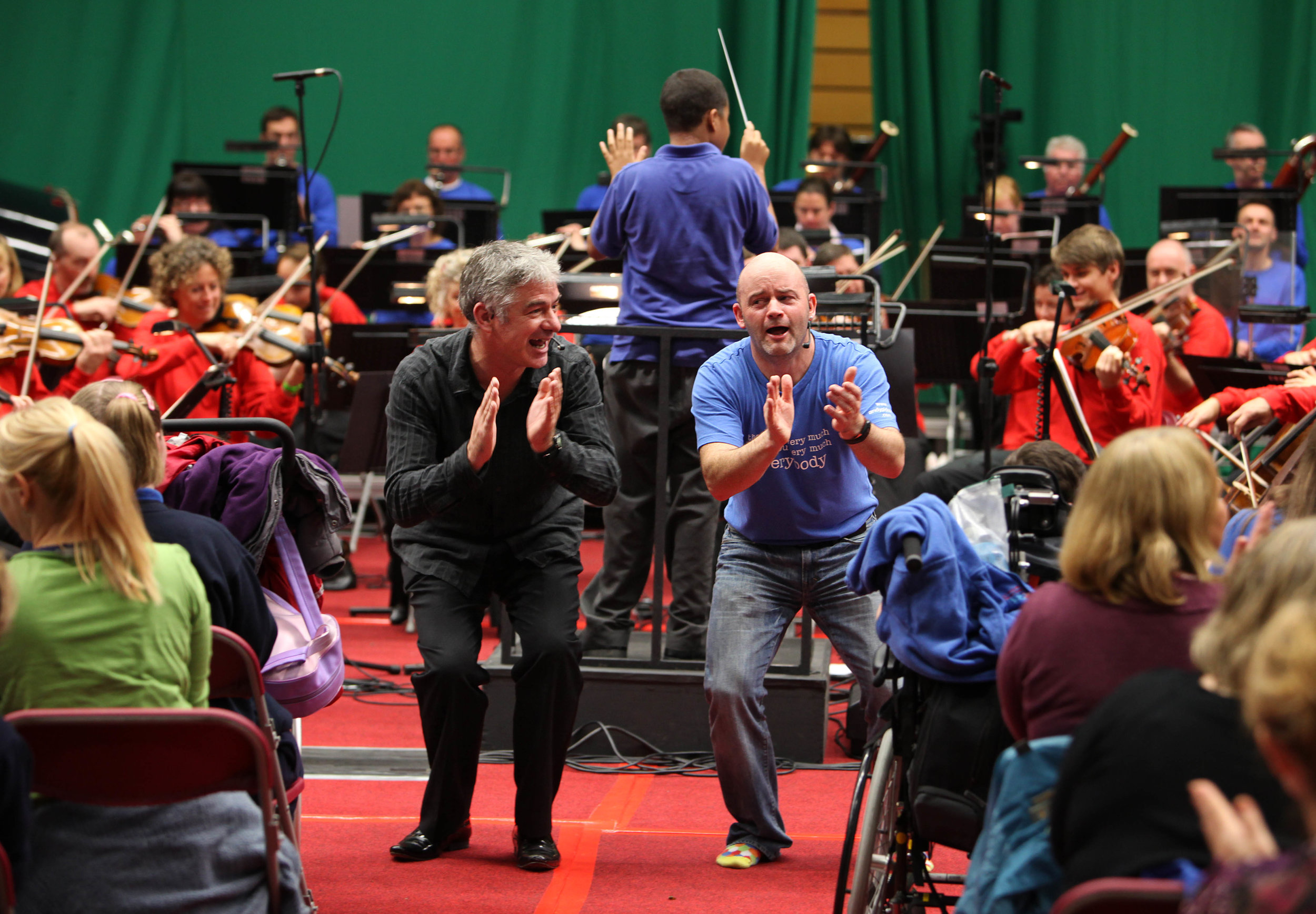 Grant Llewllyn and Andy Pidcock who lead the Relaxed Prom (cred Betina Skovbro)