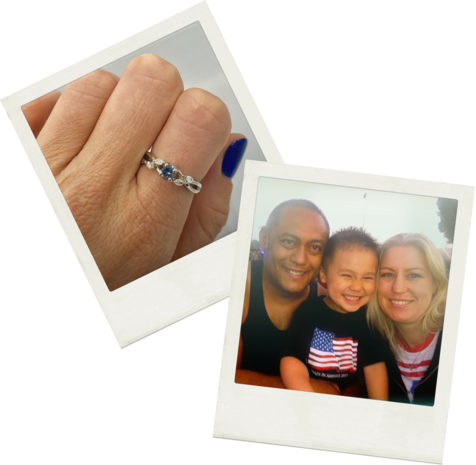 """Lisa Park - """"I got the ring. I am in shock still. Ed's diamond is beyond beautiful. You have the best company ever. To bring peace to someone in pain is priceless. I can't thank you enough."""""""