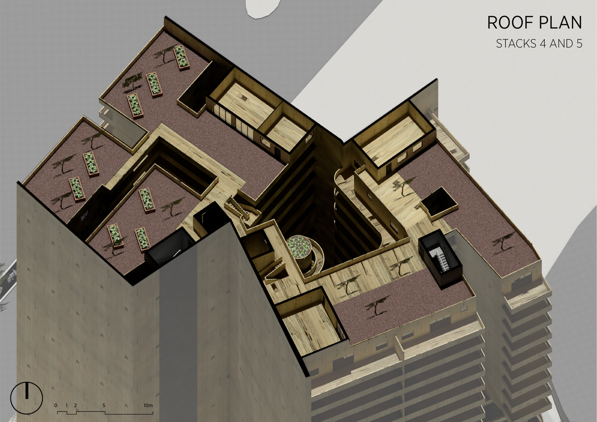 Stacks 4 & 5 | Roof Plan