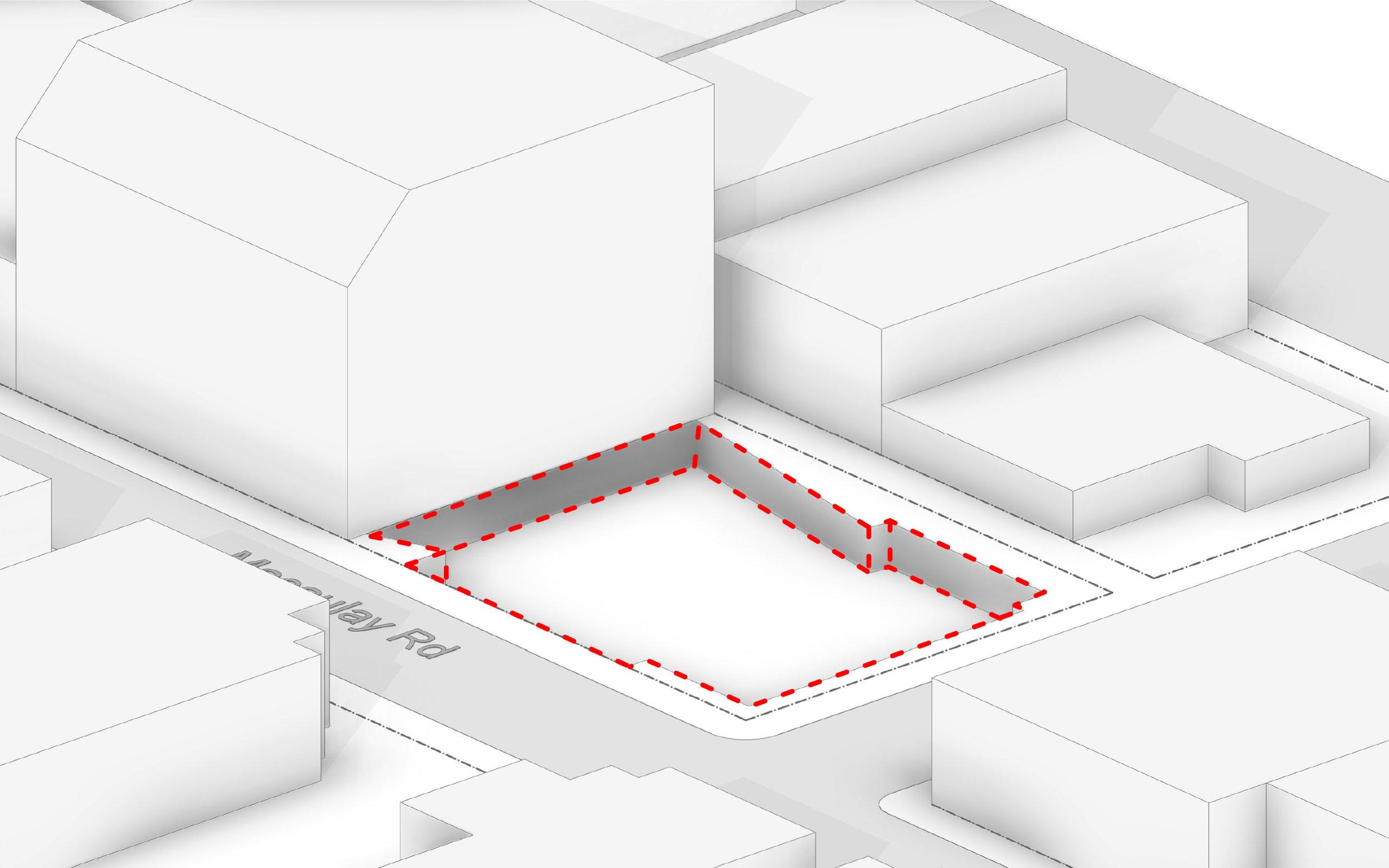 Extend form into basement