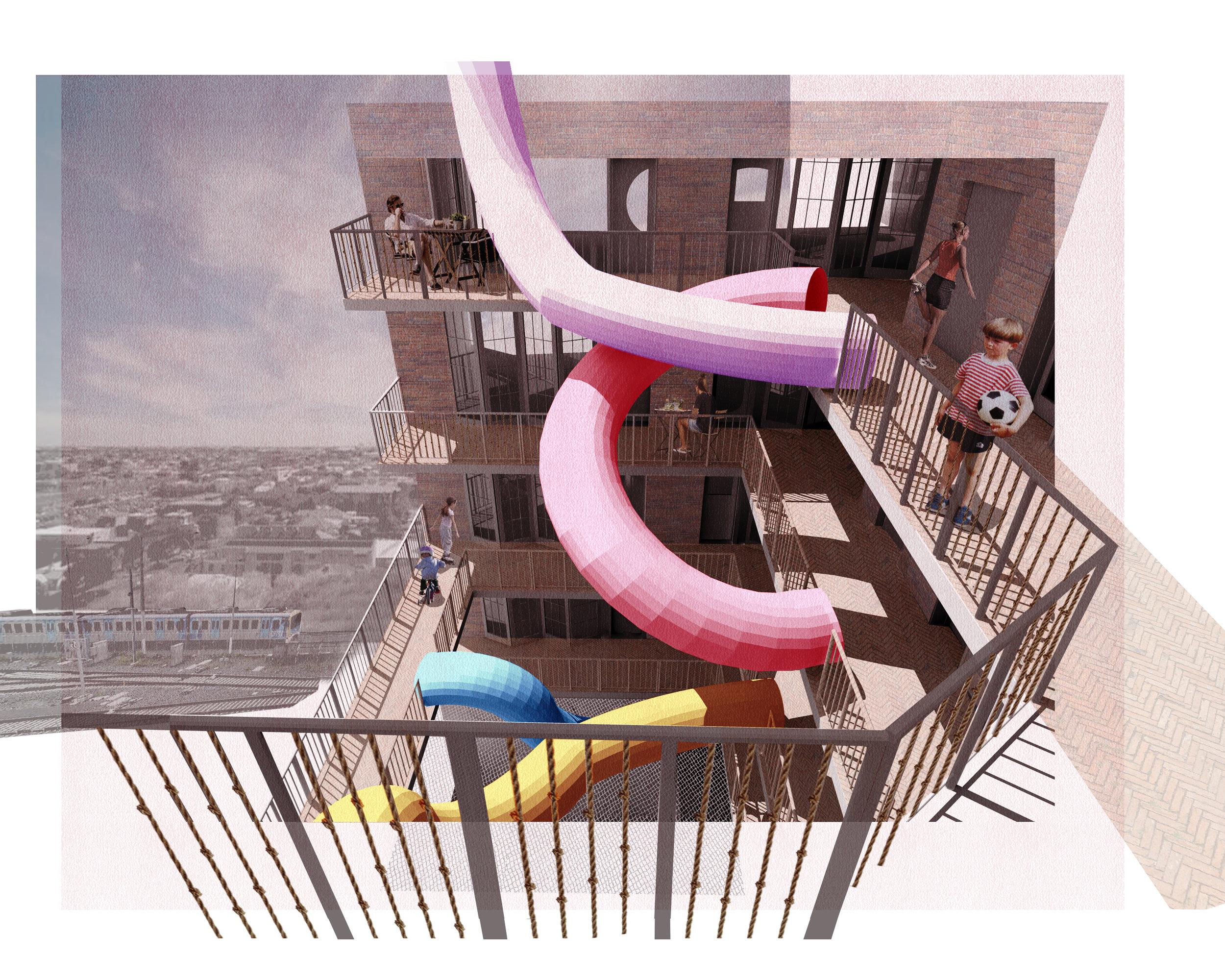 The vertical playground