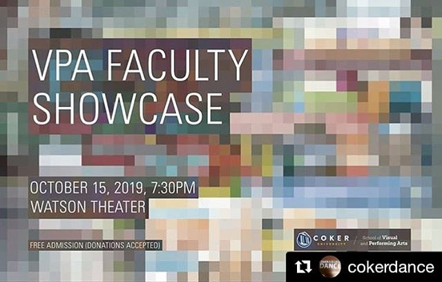 #Repost @cokerdance (@get_repost) ・・・ Tonight! See the faculty of the School of Visual and Performing Arts perform dance, music, theatre, and art. #CokerDance #CokerTheatre #CokerArt #CokerMusic #VPA #SVPA #Coker #CokerUniversity #CokerPride #HartsvilleSC #Hartsville