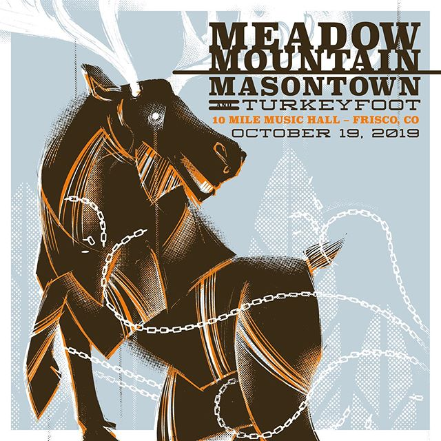 Mark your calendars for Oct 19 when @meadowmountain @turkeyfoot.bluegrass @masontownmusic  take over @10milemusic in Frisco!