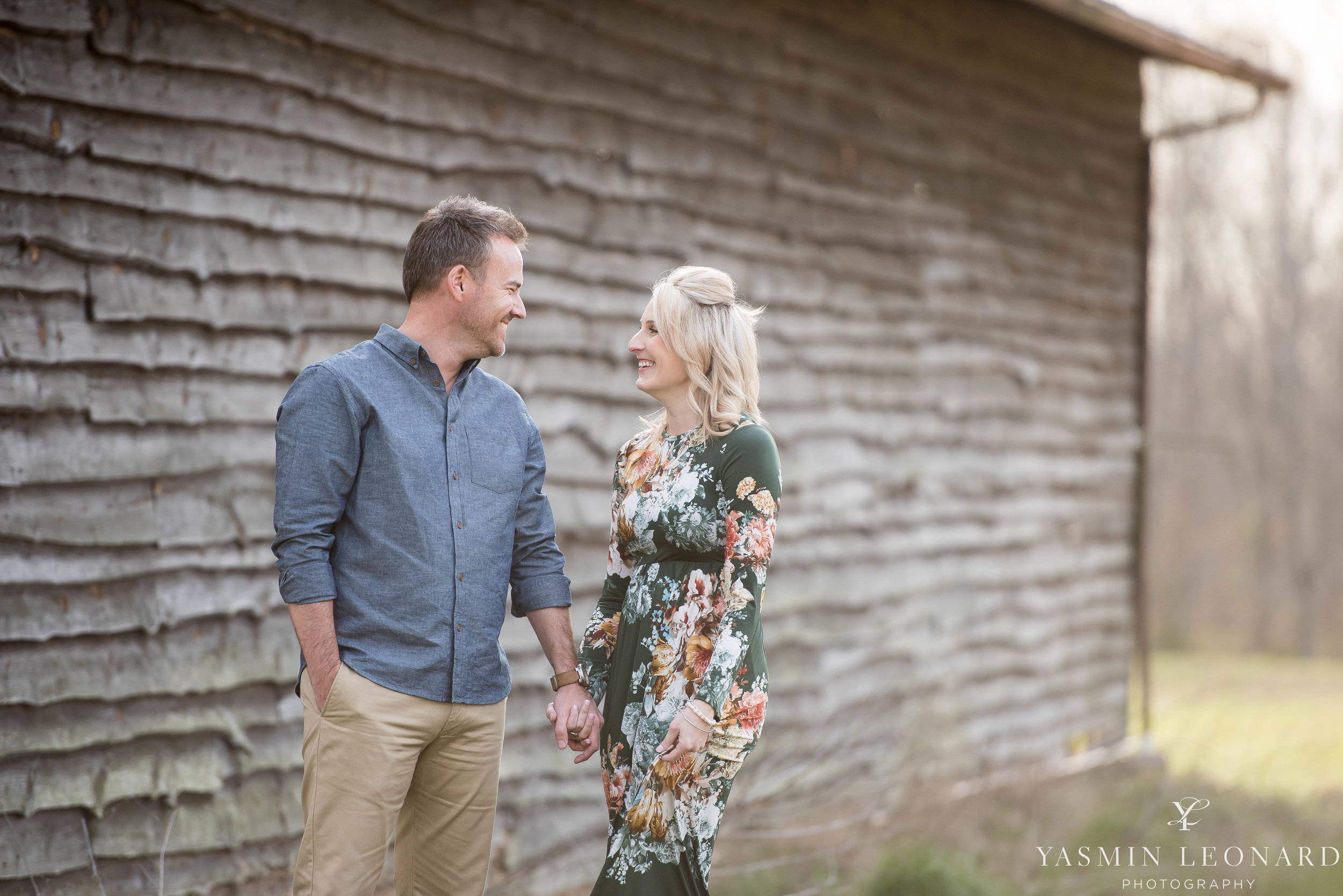 High Point Wedding Photographer - NC Wedding Photographer - Yasmin Leonard Photography - Engagement Poses - Engagement Ideas - Outdoor Engagement Session-18.jpg