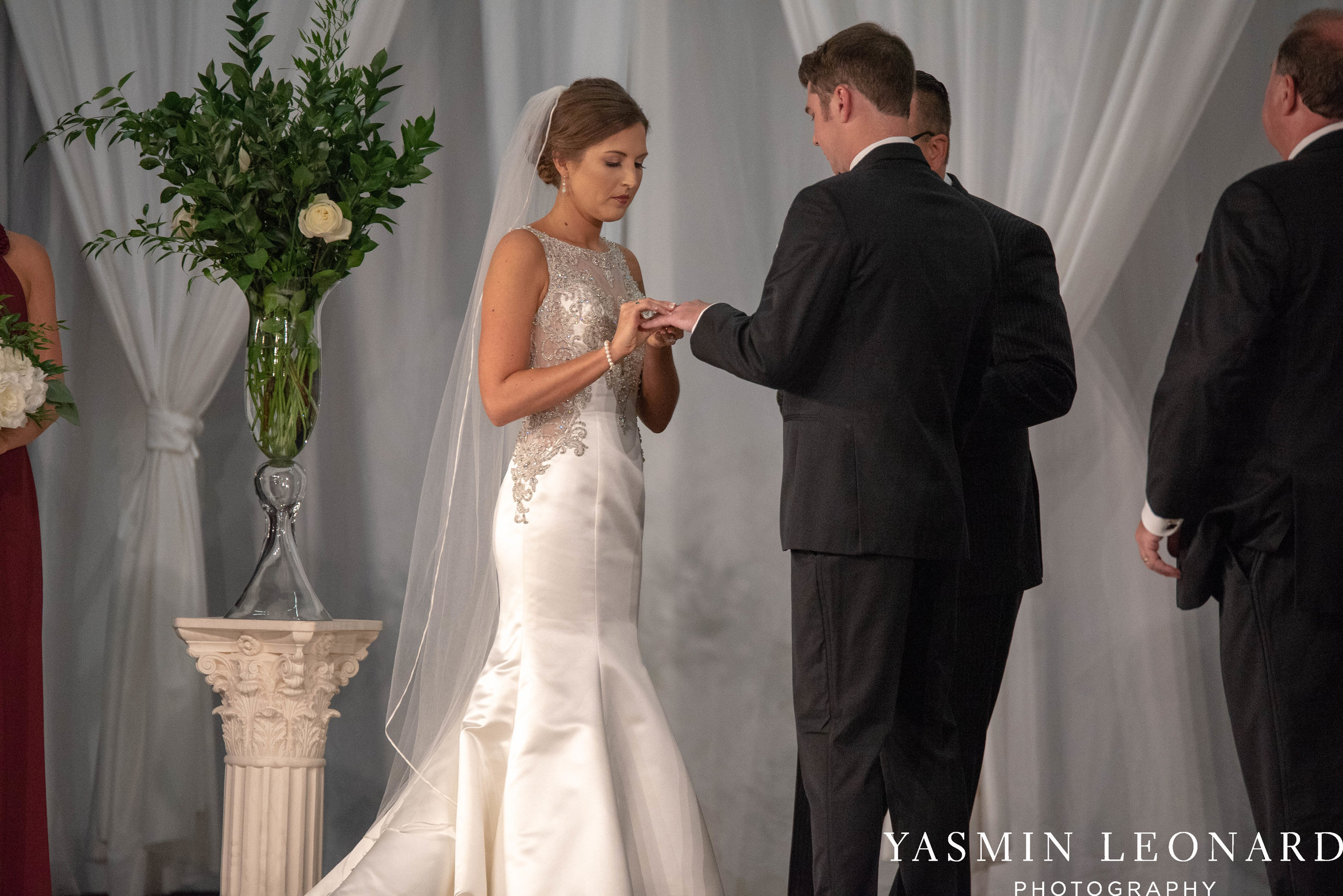 Millennium Center Wedding - Downtown Winston Salem - Winston Salem Wedding Photographer - Winston Salem Venues - Indoor Wedding Venues - NC Wedding Photographer - Yasmin Leonard Photography-40.jpg