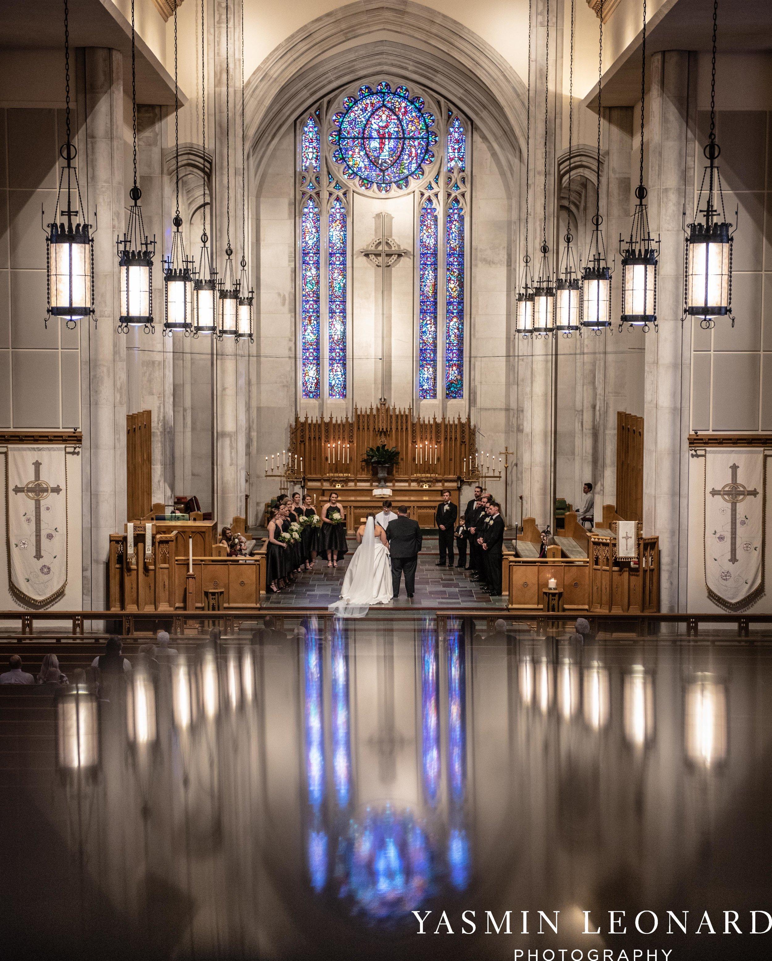 Wesley Memorial United Methodist Church - Old Homeplace Winery - High Point Weddings - High Point Wedding Photographer - NC Weddings - NC Barn Venue - Yasmin Leonard Photography-15.jpg