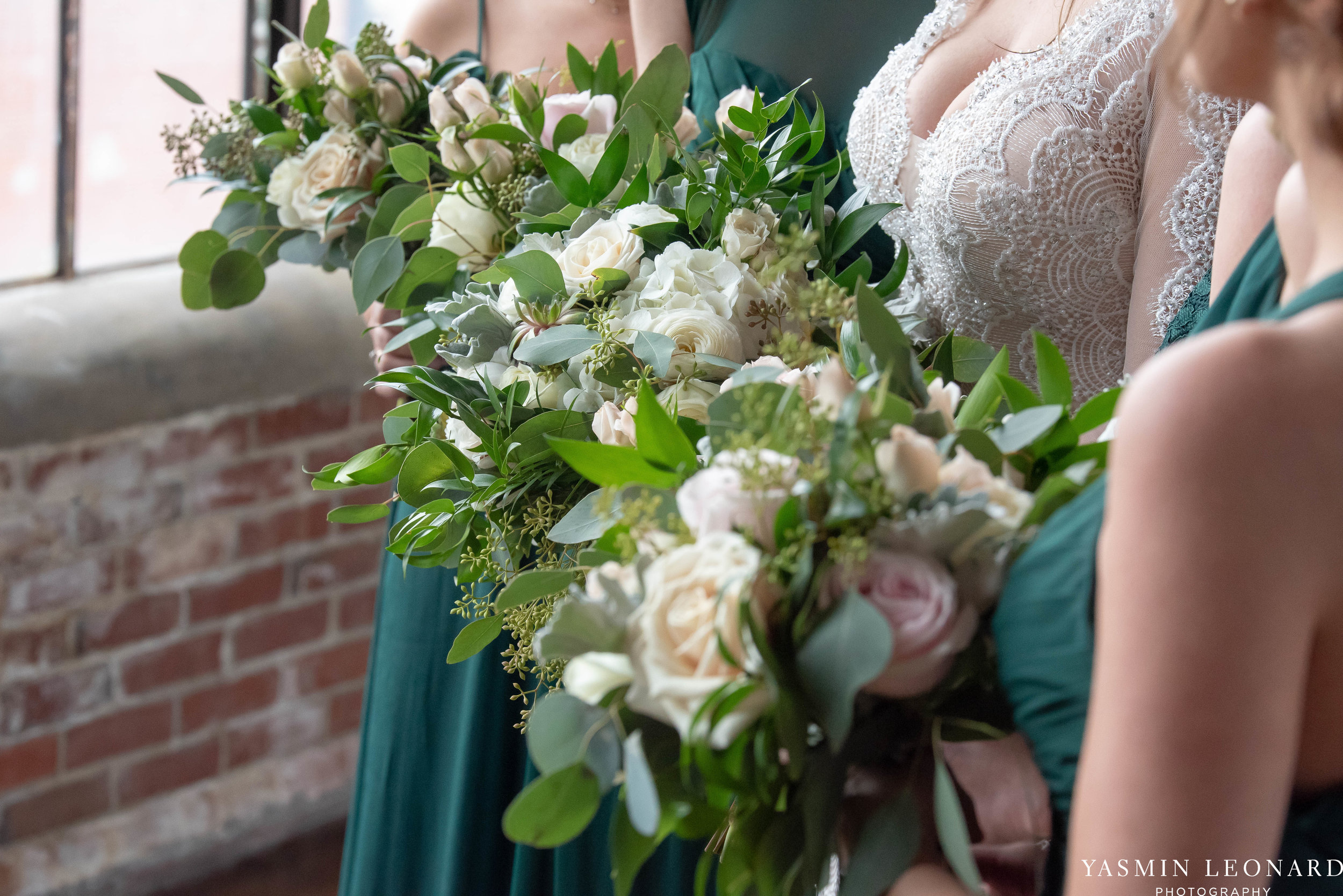 The Lofts at Union Square - Unions - High Point Weddings - NC Weddings - NC Wedding Photographer - Yasmin Leonard Photography - Just Priceless - Green Pink and Gold Wedding - Elegant Wedding-18.jpg