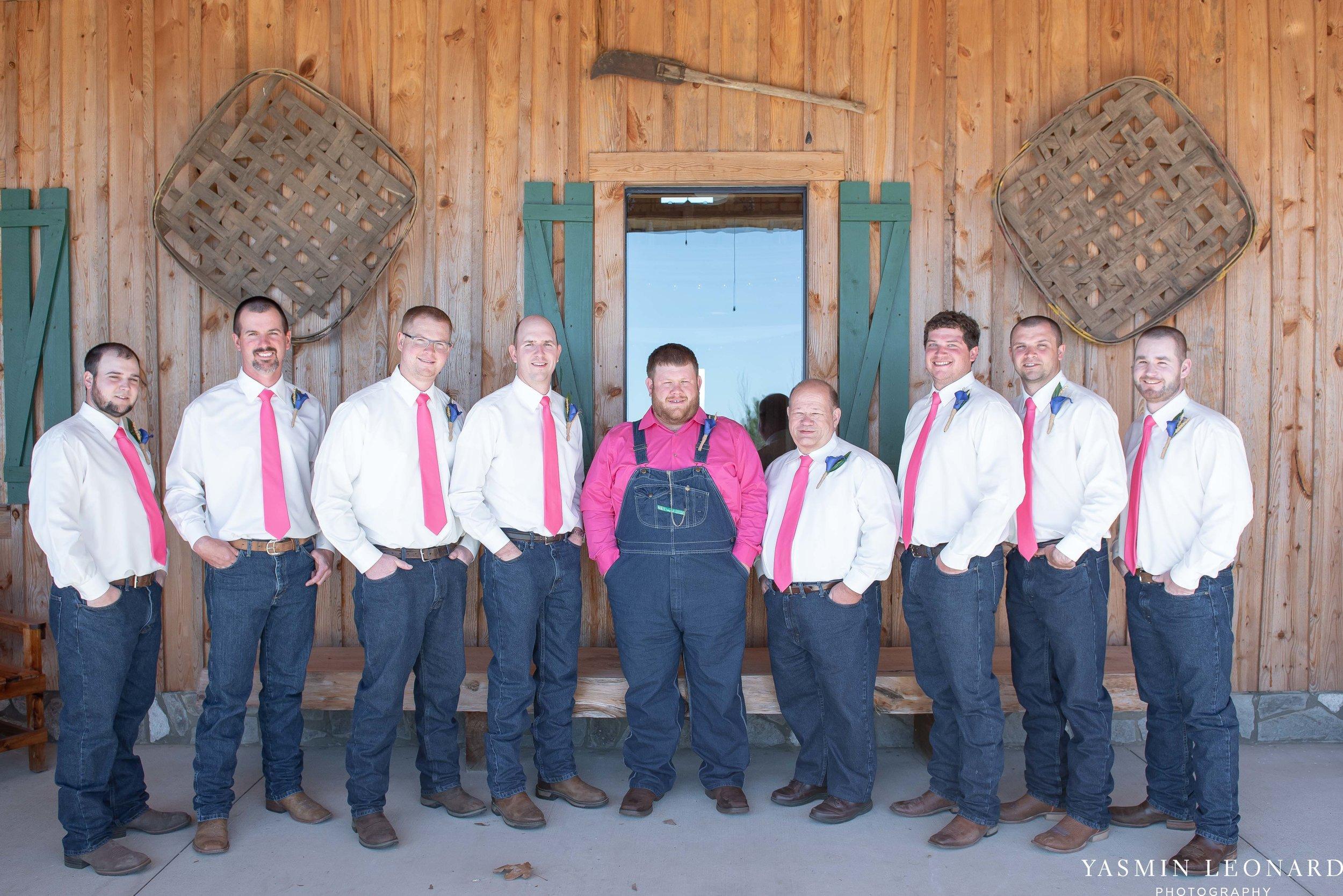 The Barn at Heritage Farm - Country Wedding - Pink and Blue Wedding - Barn Wedding - Outdoor Wedding - Cotton and Wheat Decor - Groom in Bibs - Pink Bridal Colors - Yasmin Leonard Photography-9.jpg
