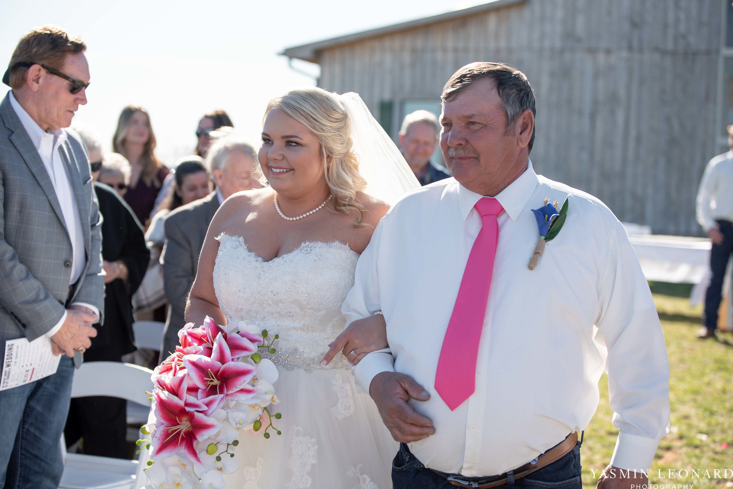 The Barn at Heritage Farm - Country Wedding - Pink and Blue Wedding - Barn Wedding - Outdoor Wedding - Cotton and Wheat Decor - Groom in Bibs - Pink Bridal Colors - Yasmin Leonard Photography-11.jpg