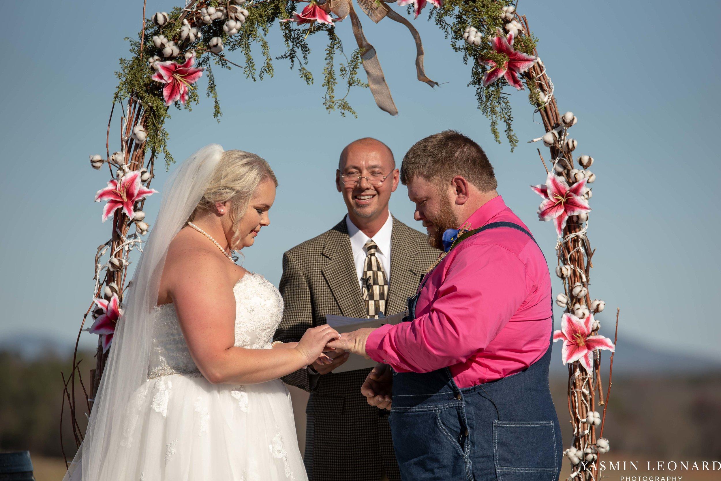 The Barn at Heritage Farm - Country Wedding - Pink and Blue Wedding - Barn Wedding - Outdoor Wedding - Cotton and Wheat Decor - Groom in Bibs - Pink Bridal Colors - Yasmin Leonard Photography-13.jpg